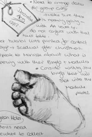 Sketchbook foot